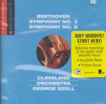 BEETHOVEN:SYMPHONY NO. 3/SYM. NO. 8 BY SZELL,GEORGE/CLEVEL (CD)